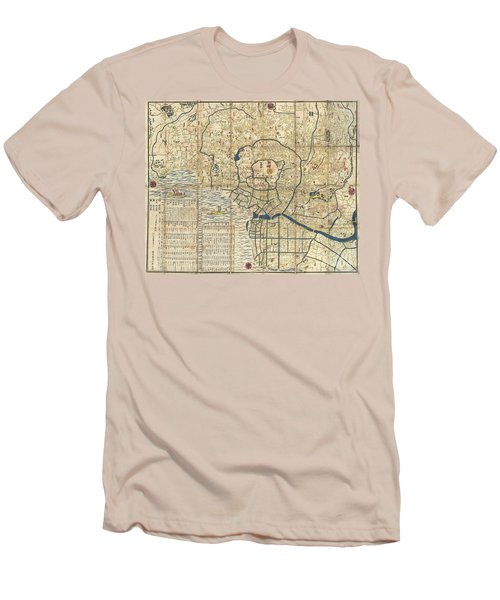 1849 Japanese Map Of Edo Or Tokyo Men's T-Shirt (Athletic Fit)