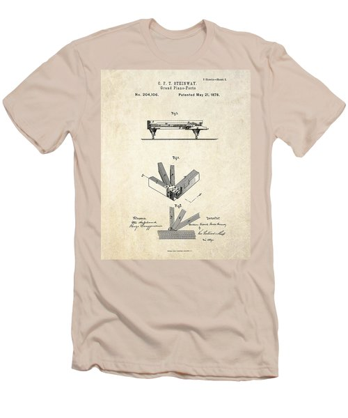 1878 Steinway Grand Piano Forte Patent Art S.2 Men's T-Shirt (Athletic Fit)