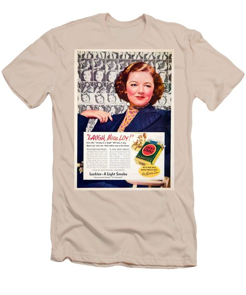 1938 - Lucky Strike Cigarettes Advertising - Myrna Loy - Color Men's T-Shirt (Athletic Fit)