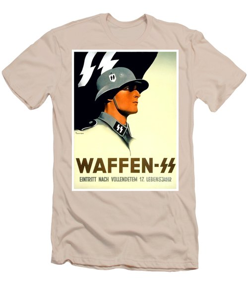 1941 - German Waffen Ss Recruitment Poster - Nazi - Color Men's T-Shirt (Athletic Fit)
