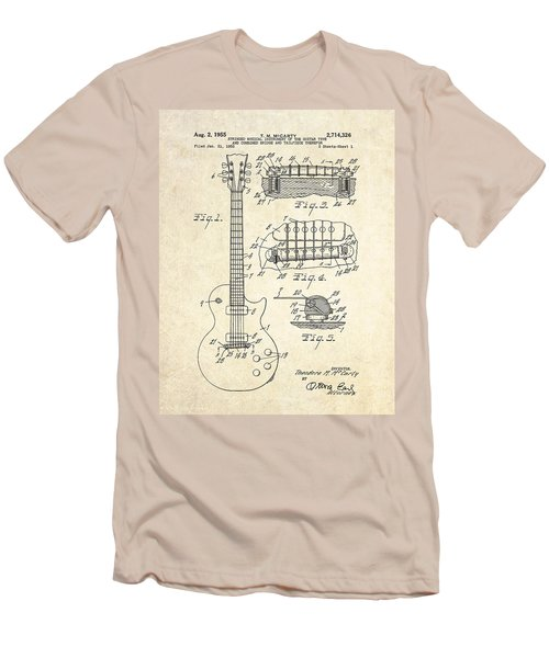 1955 Gibson Les Paul Patent Drawing Men's T-Shirt (Slim Fit) by Gary Bodnar