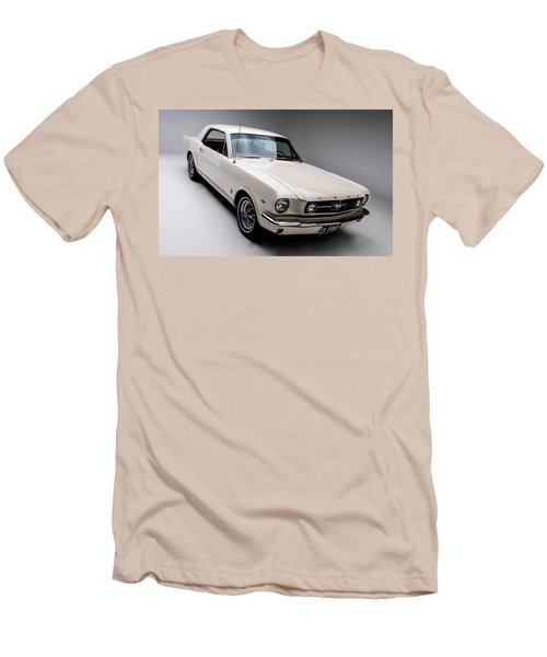 Men's T-Shirt (Slim Fit) featuring the photograph 1966 Gt Mustang by Gianfranco Weiss