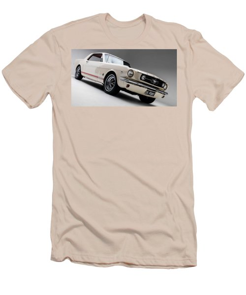 Men's T-Shirt (Slim Fit) featuring the photograph 1966 Mustang Gt by Gianfranco Weiss