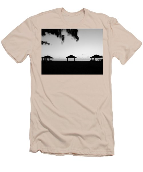 Men's T-Shirt (Slim Fit) featuring the photograph Beach Huts by Amar Sheow