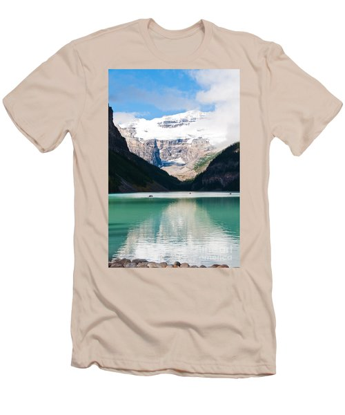 Men's T-Shirt (Slim Fit) featuring the photograph Beautiful Lake Louise by Cheryl Baxter