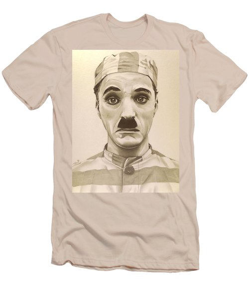 Vintage Charlie Chaplin Men's T-Shirt (Slim Fit) by Fred Larucci