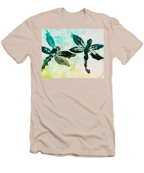 Men's T-Shirt (Slim Fit) featuring the digital art 2 Dragonflies Abstract by Frank Bright