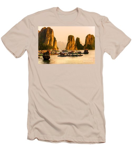 Halong Bay - Vietnam Men's T-Shirt (Slim Fit) by Luciano Mortula