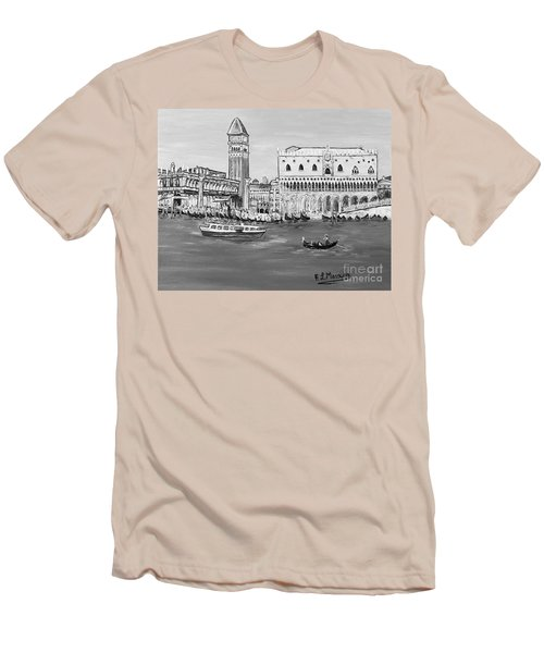 Men's T-Shirt (Slim Fit) featuring the painting Laguna by Loredana Messina