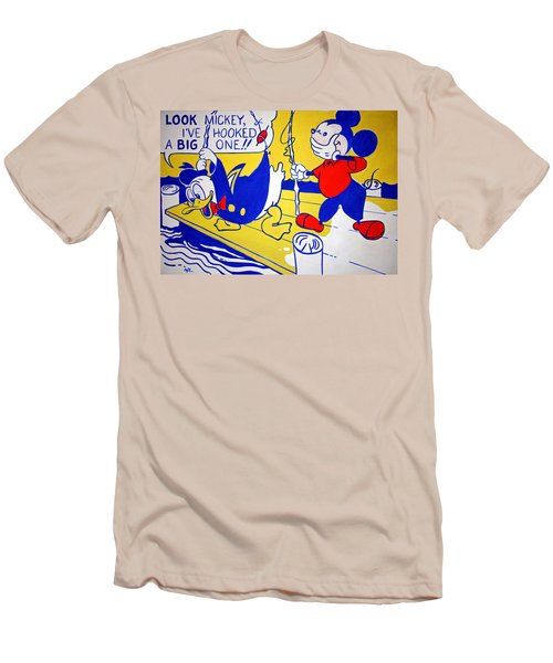 Lichtenstein's Look Mickey Men's T-Shirt (Athletic Fit)