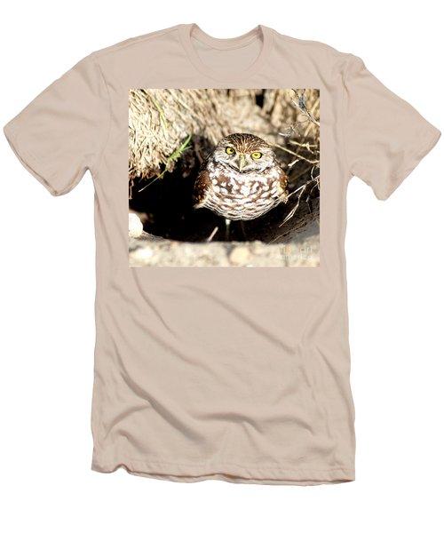 Owl Men's T-Shirt (Slim Fit) by Oksana Semenchenko
