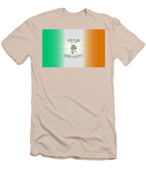 Proud Of My Irish Roots Men's T-Shirt (Slim Fit) by Ireland Calling