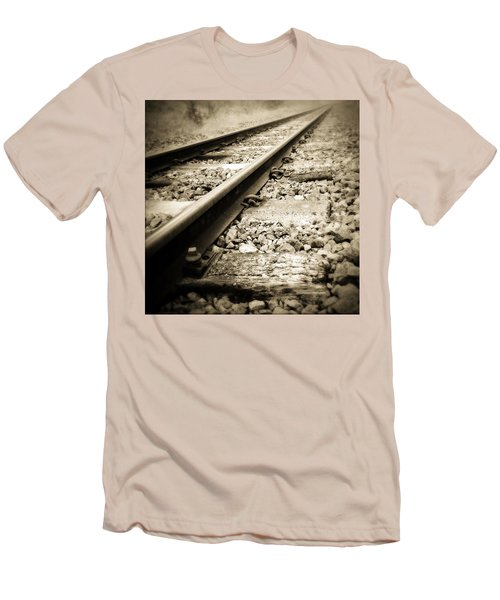 Railway Tracks Men's T-Shirt (Athletic Fit)