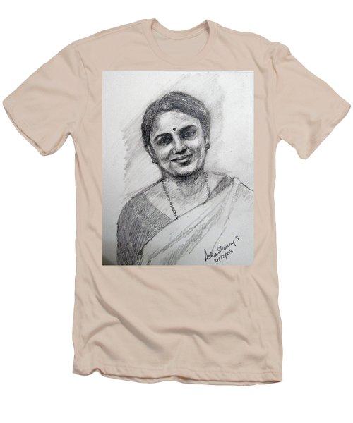 Self-portrait Men's T-Shirt (Athletic Fit)