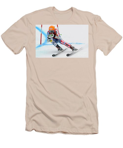 Ted Ligety Skiing  Men's T-Shirt (Athletic Fit)