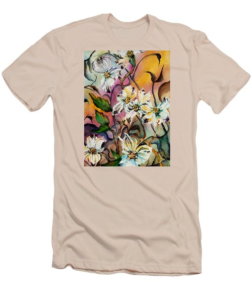 Dance Of The Dogwoods Men's T-Shirt (Slim Fit) by Lil Taylor