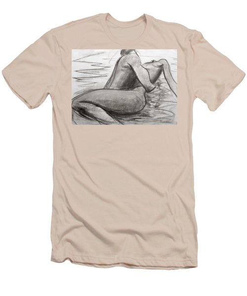 Men's T-Shirt (Slim Fit) featuring the painting Deep Love by Jarmo Korhonen aka Jarko