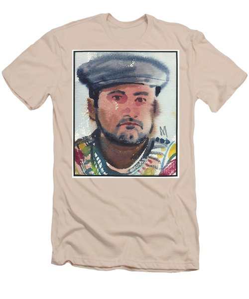 Men's T-Shirt (Slim Fit) featuring the painting Emilio by Donald Maier