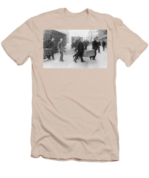 Men's T-Shirt (Slim Fit) featuring the photograph Germany Inflation, 1923 by Granger