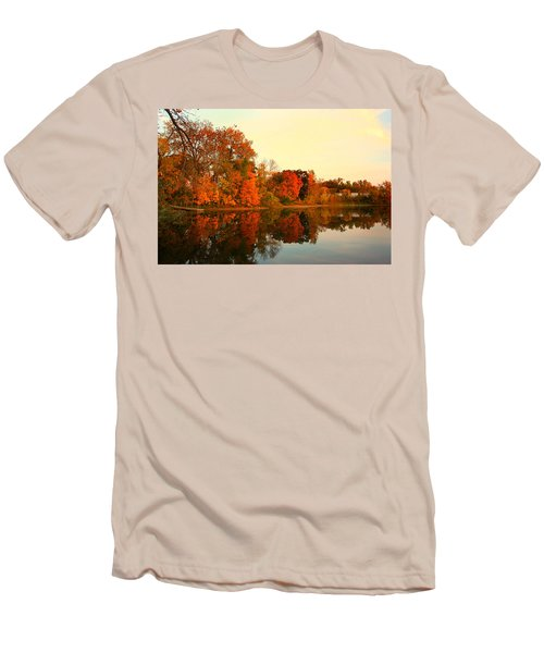 Shady Oak Lake  Men's T-Shirt (Slim Fit) by Amanda Stadther