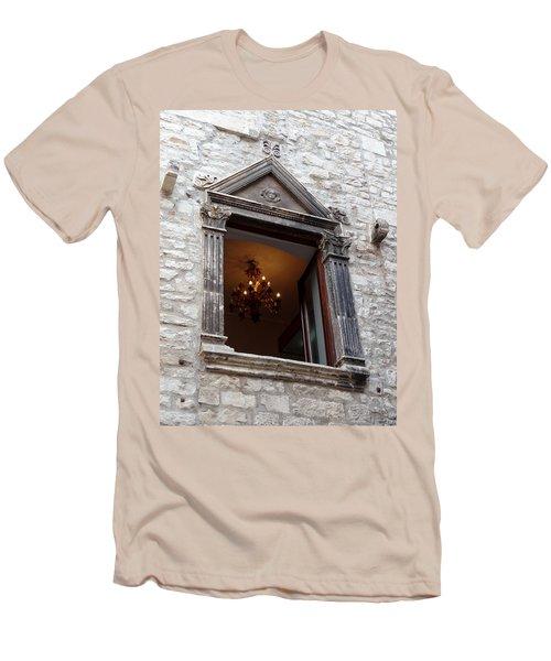 Views Of Split Croatia Men's T-Shirt (Slim Fit) by Richard Rosenshein