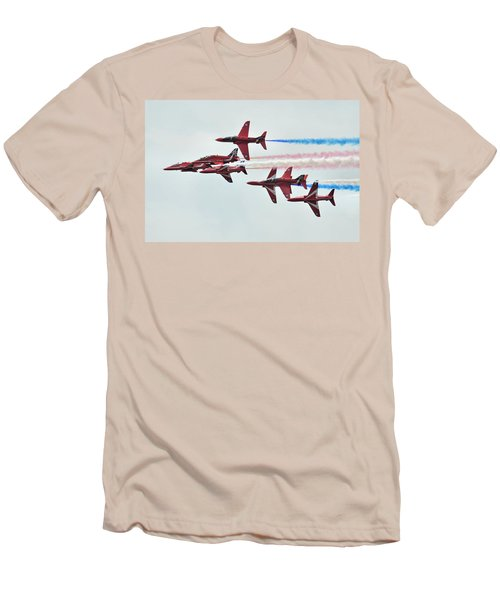 50th Anniversary 'red Arrows' Men's T-Shirt (Slim Fit) by Tim Beach