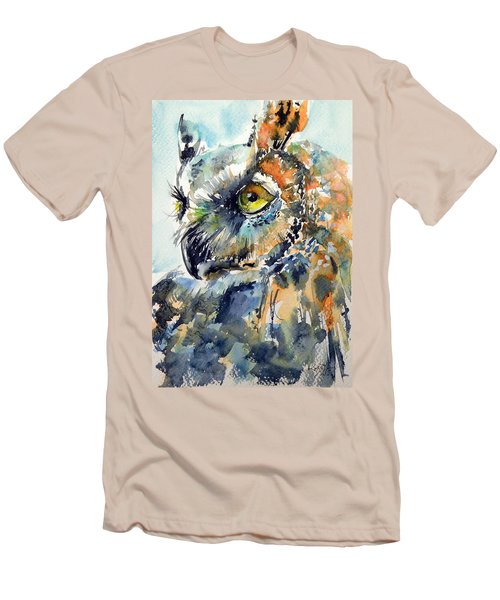 Owl Men's T-Shirt (Slim Fit) by Kovacs Anna Brigitta