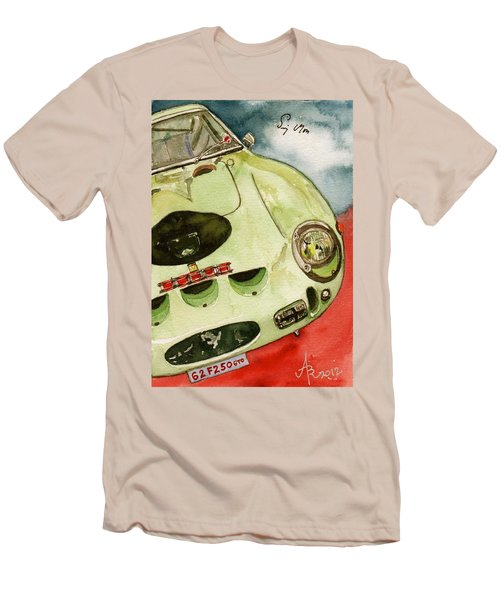 62 Ferrari 250 Gto Signed By Sir Stirling Moss Men's T-Shirt (Slim Fit) by Anna Ruzsan