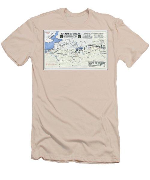 89th Infantry Division World War I I Map Men's T-Shirt (Athletic Fit)