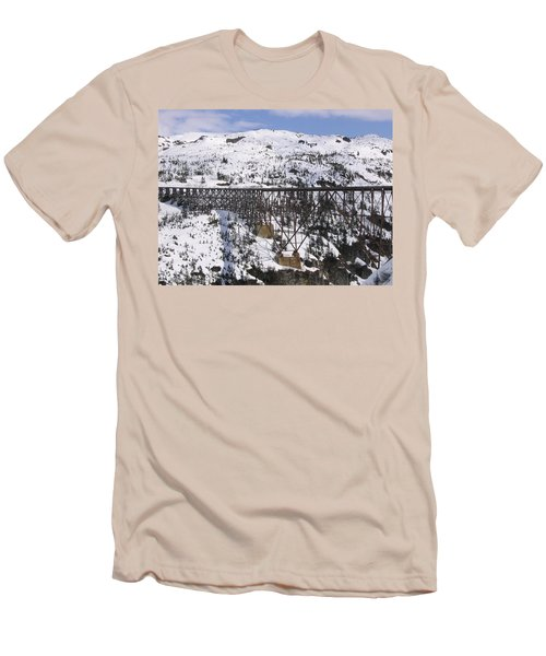 A Bridge In Alaska Men's T-Shirt (Slim Fit) by Brian Williamson