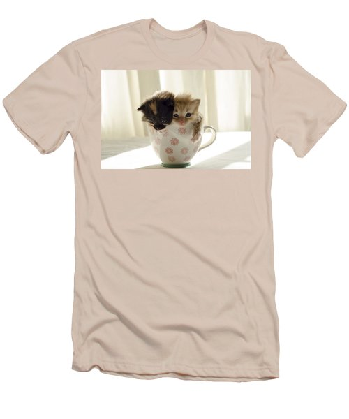 A Cup Of Cuteness Men's T-Shirt (Slim Fit) by Spikey Mouse Photography