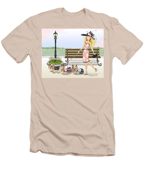 A Day At The Derby Men's T-Shirt (Slim Fit) by Catia Cho