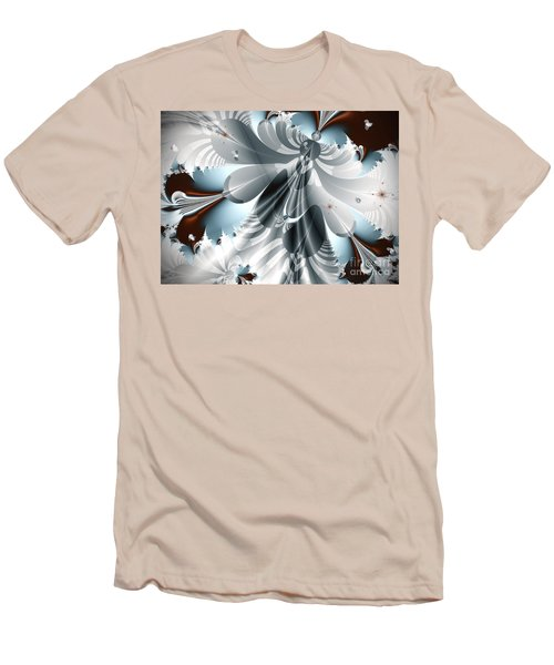 A Deeper Reflection Abstract Art Prints Men's T-Shirt (Slim Fit) by Valerie Garner