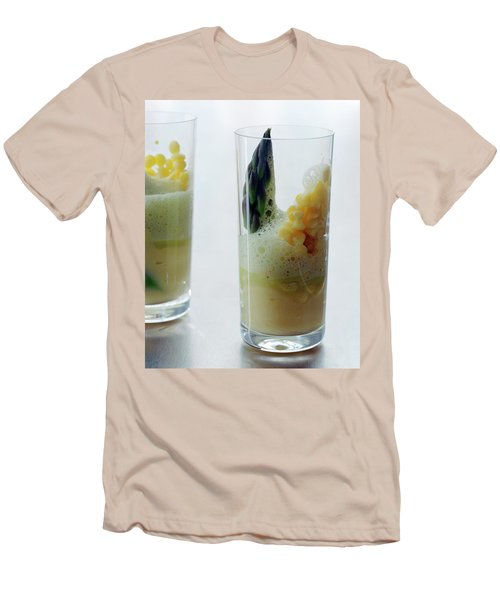 A Drink With Asparagus Men's T-Shirt (Slim Fit) by Romulo Yanes