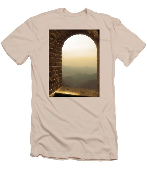 A Great View Of China Men's T-Shirt (Slim Fit) by Nicola Nobile