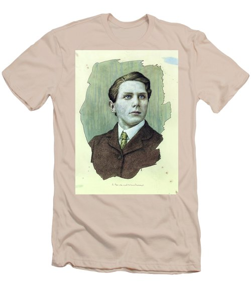 Men's T-Shirt (Slim Fit) featuring the painting A Man Who Used To Be A Dreamer by James W Johnson