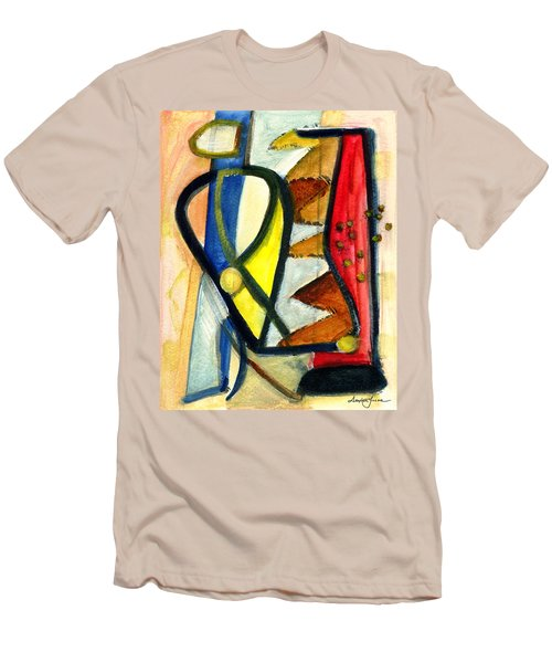 Men's T-Shirt (Slim Fit) featuring the painting A Perfect Image by Stephen Lucas