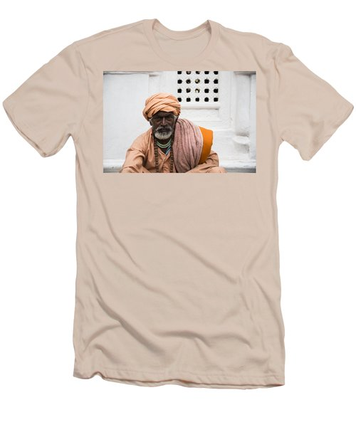 A Sadhu During Shivaratri Festival In Kathmandu Men's T-Shirt (Athletic Fit)