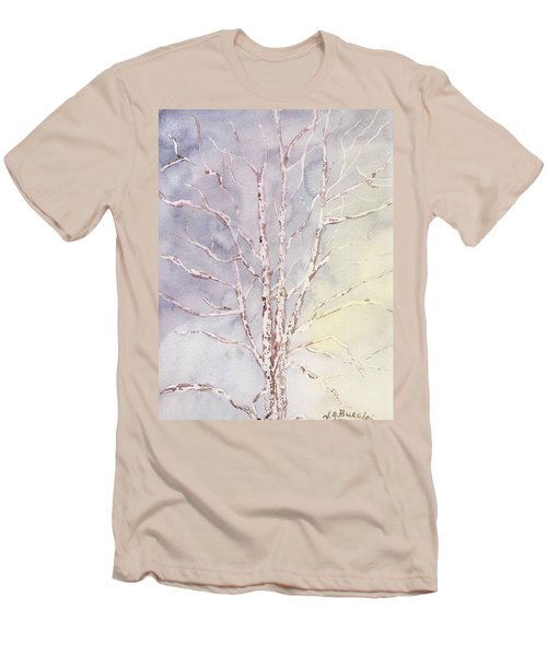 A Tree In Winter Men's T-Shirt (Slim Fit) by Vickie G Buccini