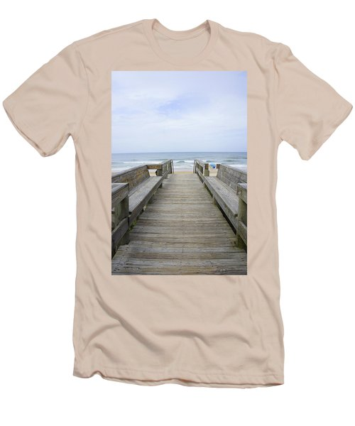 Men's T-Shirt (Slim Fit) featuring the photograph A Welcoming View by Laurie Perry