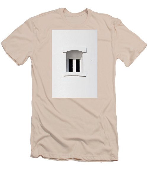 A Window In White Men's T-Shirt (Slim Fit) by Wendy Wilton