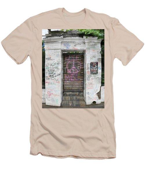 Abbey Road Graffiti Men's T-Shirt (Athletic Fit)