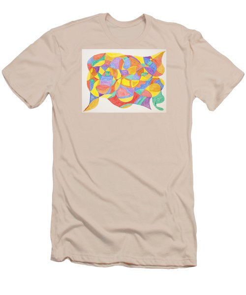 Men's T-Shirt (Slim Fit) featuring the painting Faces And Places by Stormm Bradshaw