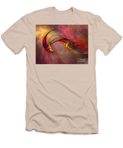 Abstract Art Print Hummingbird Men's T-Shirt (Athletic Fit)