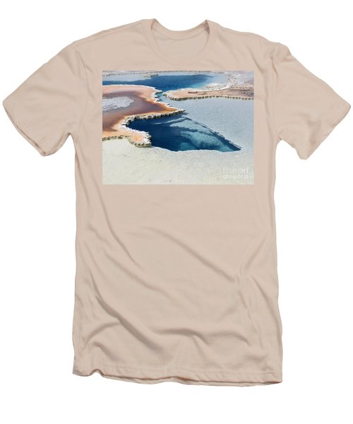 Abstract From The Land Of Geysers. Yellowstone Men's T-Shirt (Athletic Fit)
