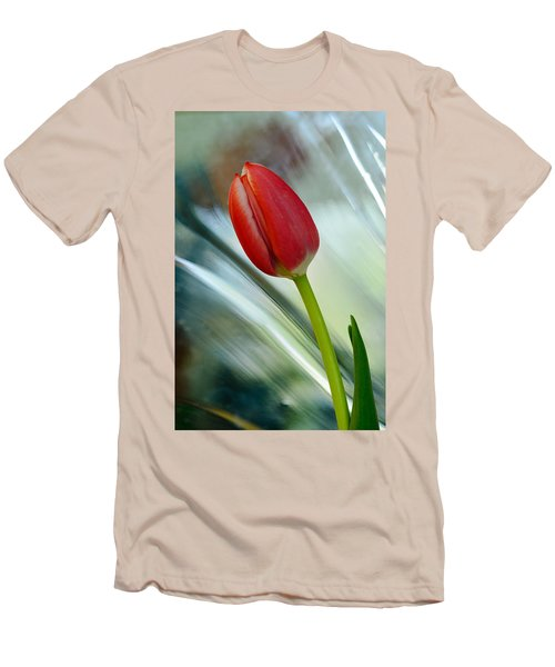 Abstract Tulip Under Glass Men's T-Shirt (Athletic Fit)