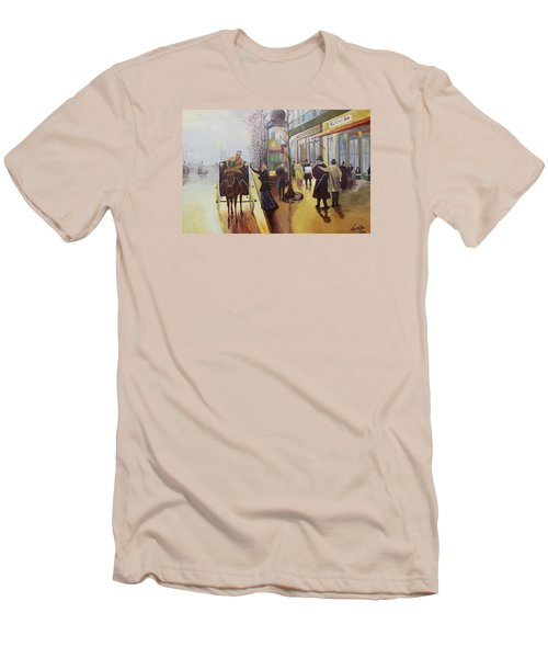 Acrylic Msc 178  Men's T-Shirt (Slim Fit) by Mario Sergio Calzi