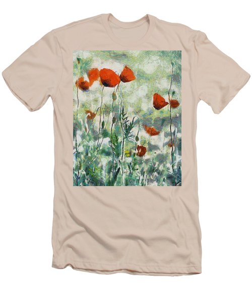 Men's T-Shirt (Slim Fit) featuring the painting Affection by Joe Misrasi