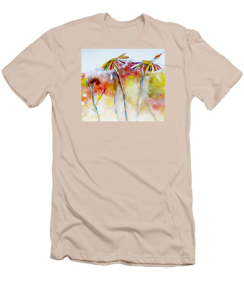 African Daisy Abstract Men's T-Shirt (Slim Fit) by Lisa Kaiser