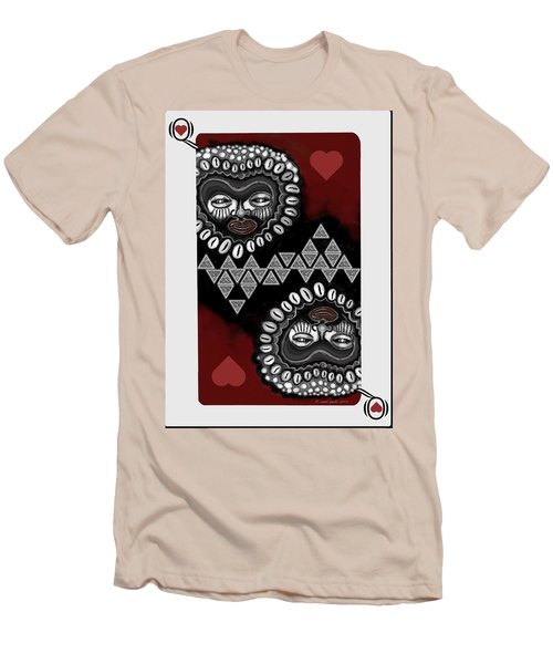 African Queen-of-hearts Card Men's T-Shirt (Slim Fit) by Carol Jacobs